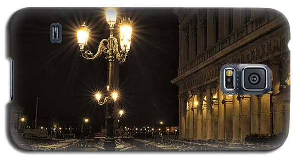 Galaxy S5 Case featuring the photograph St Mark's Square At Night by Marion Galt
