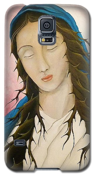 Galaxy S5 Case featuring the painting St. Mary's Calvary by Edwin Alverio