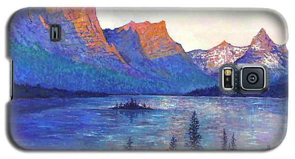 St. Mary's Lake Montana Galaxy S5 Case by Lou Ann Bagnall