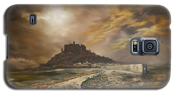 Galaxy S5 Case featuring the painting St Michaels Mount Cornwall by Jean Walker