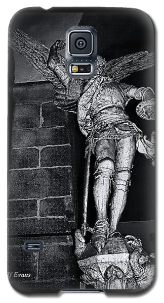 Galaxy S5 Case featuring the photograph St. Michel Slaying The Dragon by Elf Evans