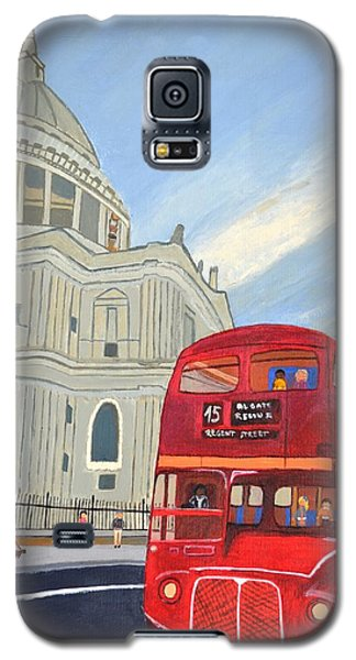 St. Paul Cathedral And London Bus Galaxy S5 Case
