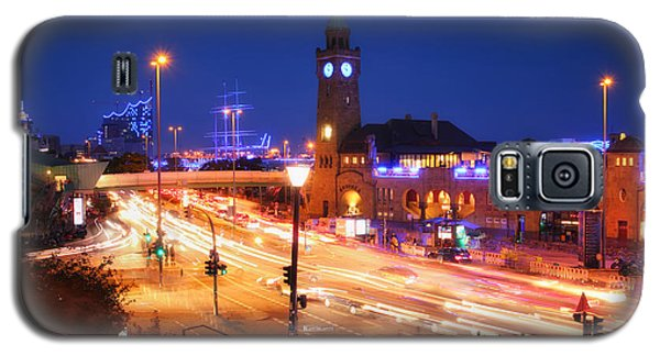 St. Pauli Landing Stages At Night Galaxy S5 Case