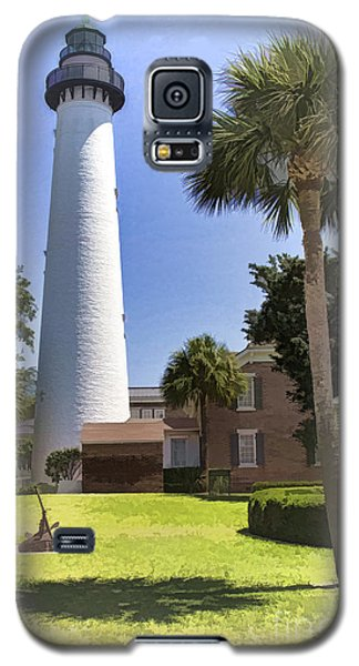 Galaxy S5 Case featuring the photograph St. Simmons Lighthouse by Linda Blair