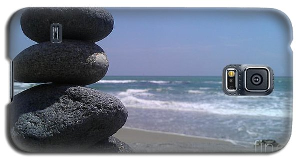 Galaxy S5 Case featuring the photograph Stacked Rocks by Chris Tarpening