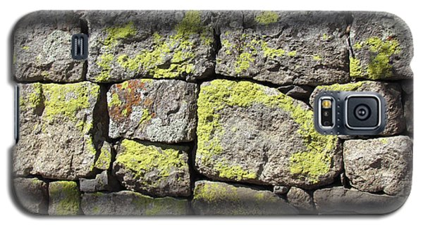 Galaxy S5 Case featuring the photograph Stacked Stone Wall by Bonnie Muir