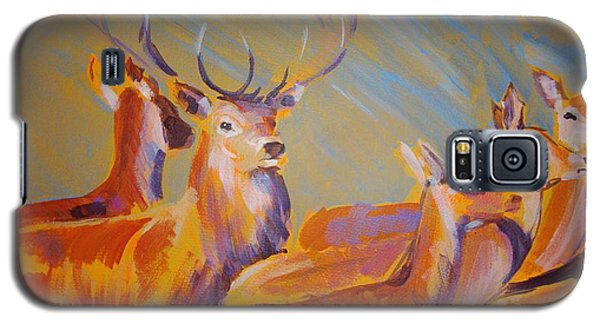 Stag And Deer Painting Galaxy S5 Case