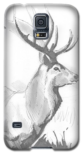 Stag Drawing Galaxy S5 Case