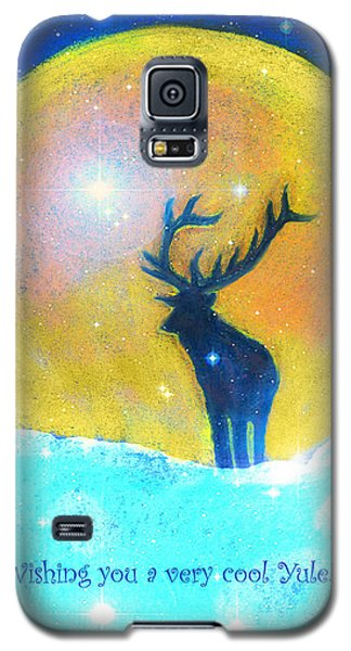 Stag Of Winter Galaxy S5 Case by Diana Haronis