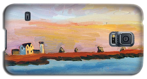 Galaxy S5 Case featuring the painting Stage Harbor Sunset by Michael Helfen
