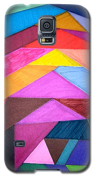 Galaxy S5 Case featuring the drawing Stained Glass Abstract by Mary Bedy