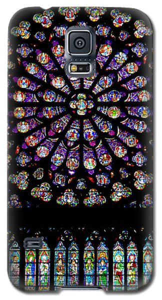 Stained Glass At Notre Dame Galaxy S5 Case