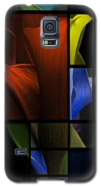 Stained Glass Calla Lily Galaxy S5 Case by Judy  Johnson