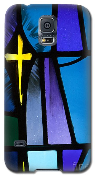 Stained Glass Cross Galaxy S5 Case by Karen Lee Ensley