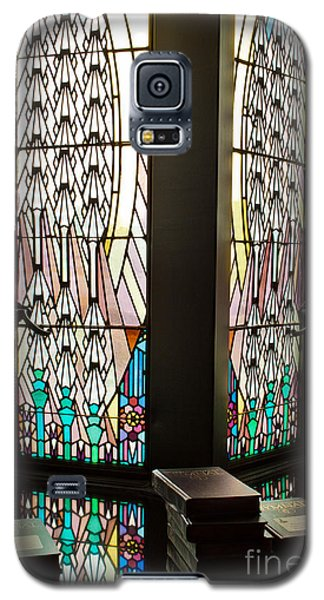 Galaxy S5 Case featuring the photograph Stained Glass by Lawrence Burry