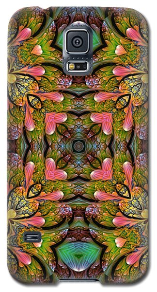 Galaxy S5 Case featuring the digital art Stained Glass by Lea Wiggins