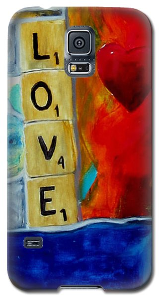 Galaxy S5 Case featuring the painting Stained Glass Love by Keith Thue