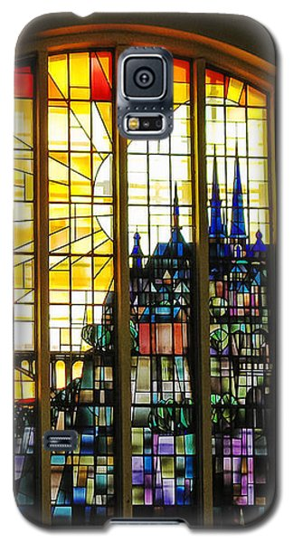 Stained Glass Luxembourg Galaxy S5 Case by Victoria Harrington