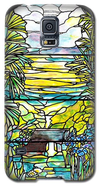 Stained Glass Tiffany Holy City Memorial Window Galaxy S5 Case by Donna Walsh