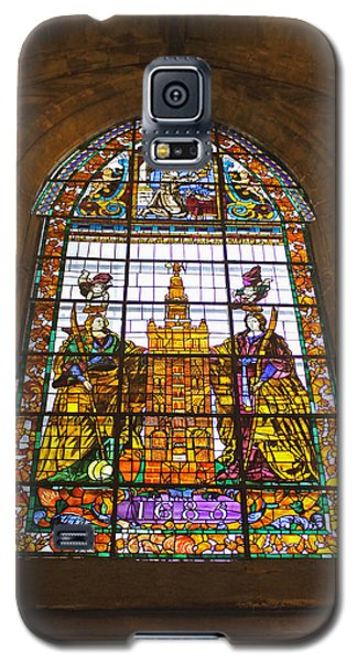 Stained Glass Window In Seville Cathedral Galaxy S5 Case