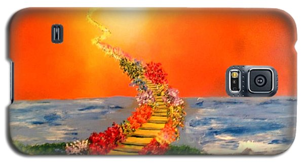 Galaxy S5 Case featuring the painting Stairway To Heaven by Michael Rucker