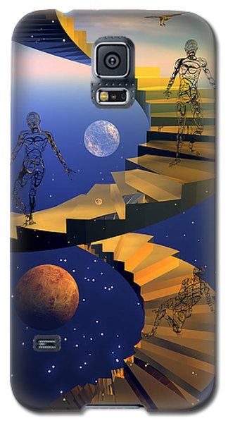 Galaxy S5 Case featuring the digital art Stairway To Imagination by Claude McCoy