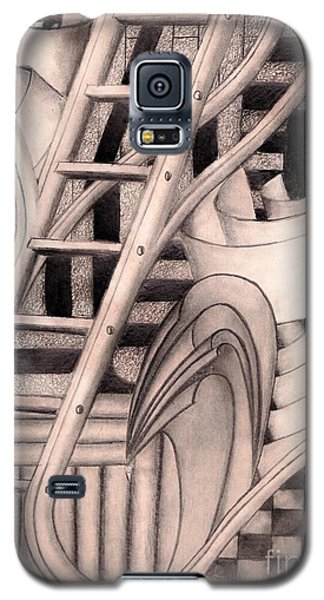 Galaxy S5 Case featuring the drawing Stairway To.... by John Stuart Webbstock