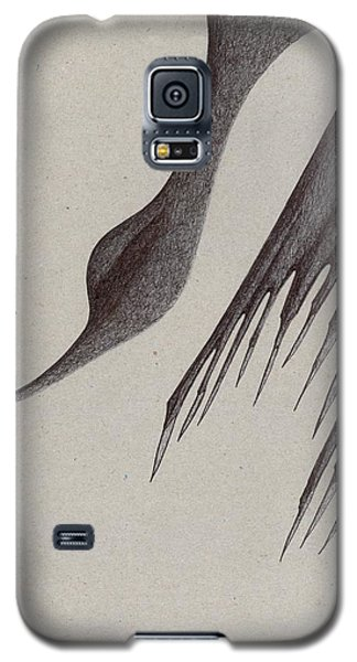 Galaxy S5 Case featuring the drawing Stalactites Overhead by Giuseppe Epifani