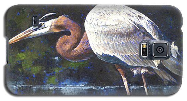 Galaxy S5 Case featuring the painting Stalking by Pam Talley