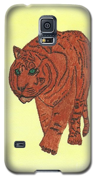Stalking Tiger Galaxy S5 Case by Tracey Williams