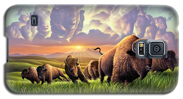 Bison Galaxy S5 Case - Stampede by Jerry LoFaro