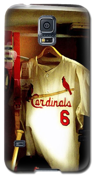 Stan The Man's Locker Stan Musial Galaxy S5 Case by Iconic Images Art Gallery David Pucciarelli