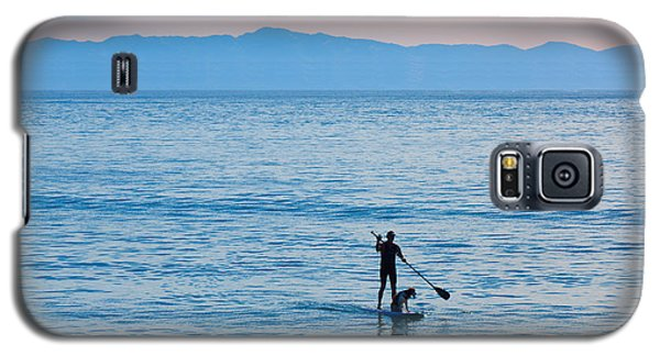 Stand Up Paddle Surfing In Santa Barbara Bay California Galaxy S5 Case