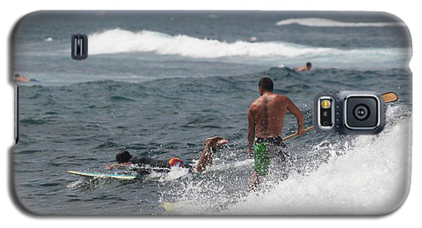 Stand-up Paddleboard Man In The Surf Galaxy S5 Case