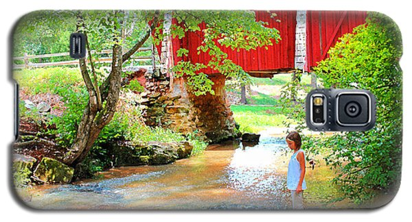 Standing By The River At Campbell's Bridge Galaxy S5 Case by Bellesouth Studio