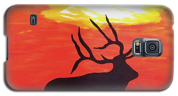 Galaxy S5 Case featuring the painting Standing Guard by Matthew Griswold