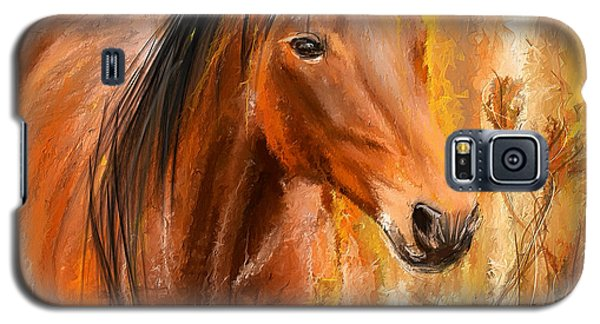 Standing Regally- Bay Horse Paintings Galaxy S5 Case