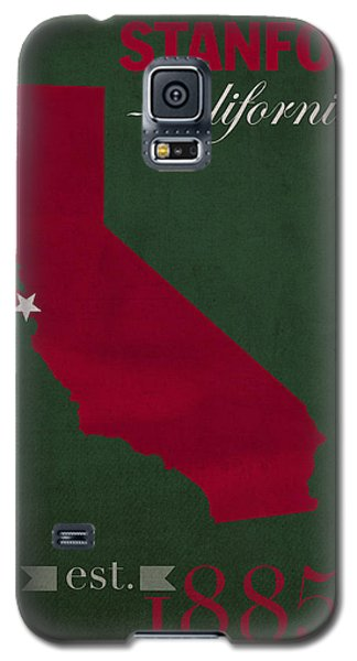 Stanford University Cardinal Stanford California College Town State Map Poster Series No 100 Galaxy S5 Case by Design Turnpike