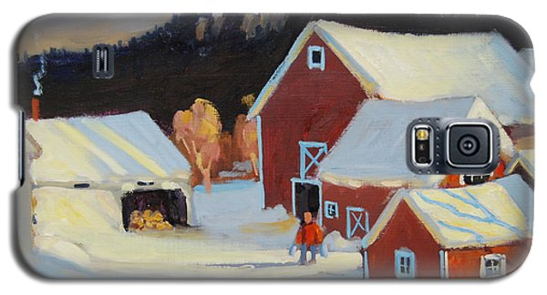 Galaxy S5 Case featuring the painting Stanley Kay Farm by Len Stomski