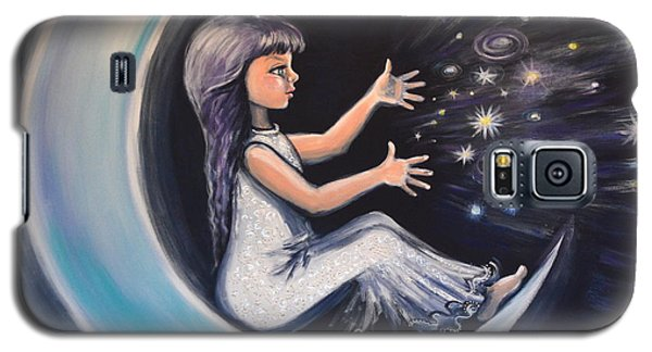 Galaxy S5 Case featuring the painting Celestial Games by Agata Lindquist