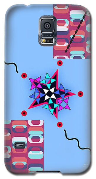 Galaxy S5 Case featuring the digital art Star Design by Christine Perry