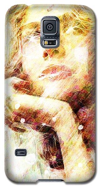 Galaxy S5 Case featuring the digital art Star Eyes by Andrea Barbieri