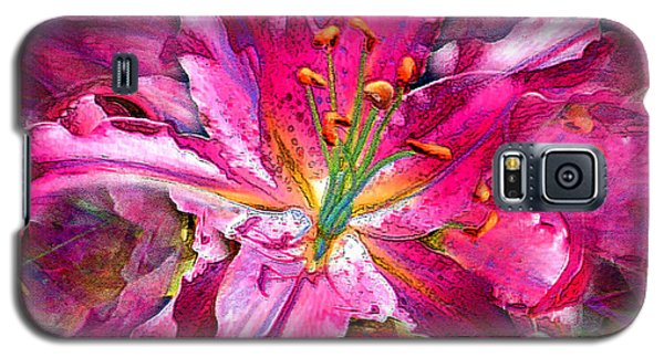 Star Gazing Stargazer Lily Galaxy S5 Case