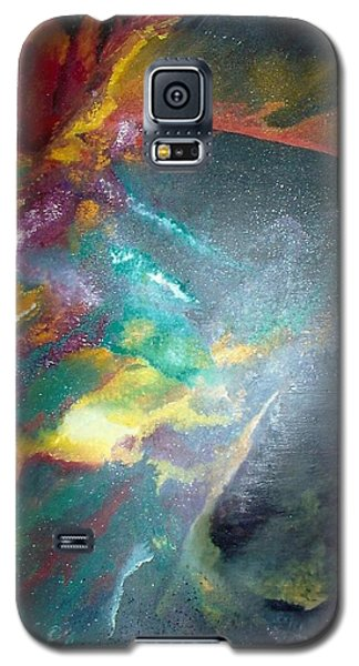 Galaxy S5 Case featuring the painting Star Nebula by Carrie Maurer