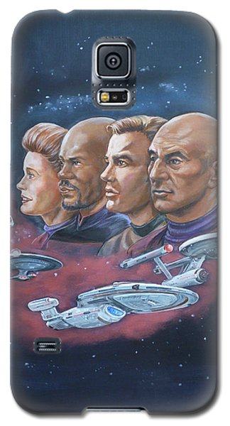 Star Trek Tribute Captains Galaxy S5 Case
