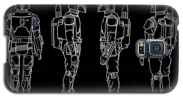 R2-d2 Galaxy S5 Case - Star Wars Boba Fett Patent 1982 - Black by Stephen Younts