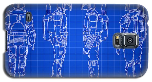R2-d2 Galaxy S5 Case - Star Wars Boba Fett Patent 1982 - Blue by Stephen Younts