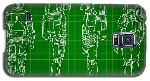 R2-d2 Galaxy S5 Case - Star Wars Boba Fett Patent 1982 - Green by Stephen Younts