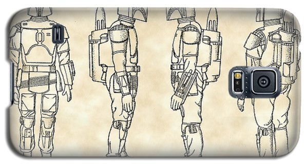 R2-d2 Galaxy S5 Case - Star Wars Boba Fett Patent 1982 - Parchment by Stephen Younts