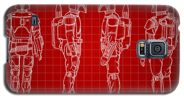 R2-d2 Galaxy S5 Case - Star Wars Boba Fett Patent 1982 - Red by Stephen Younts